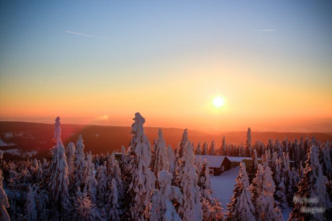 Sonnenuntergang auf dem Ochsenkopf