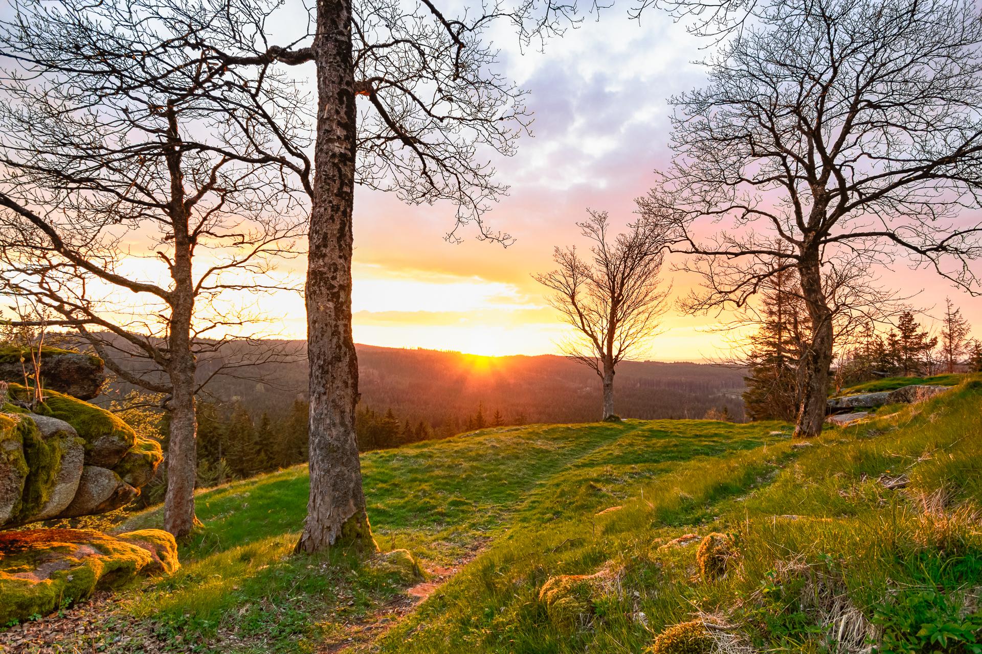 Sonnenuntergang vom Epprechtstein