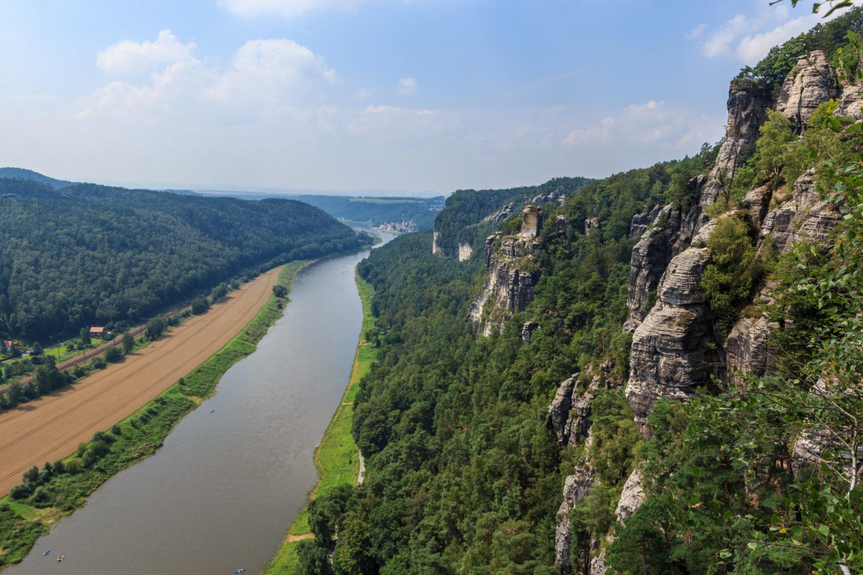 Blick von der Bastei über die Elbe