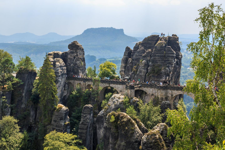 Die wohl berühmteste Ansicht der Basteibrücke