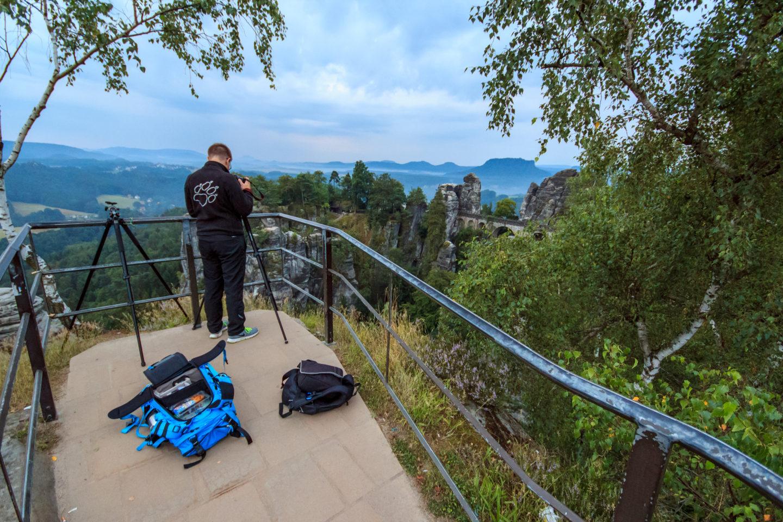 Aussicht auf die Basteibrücke