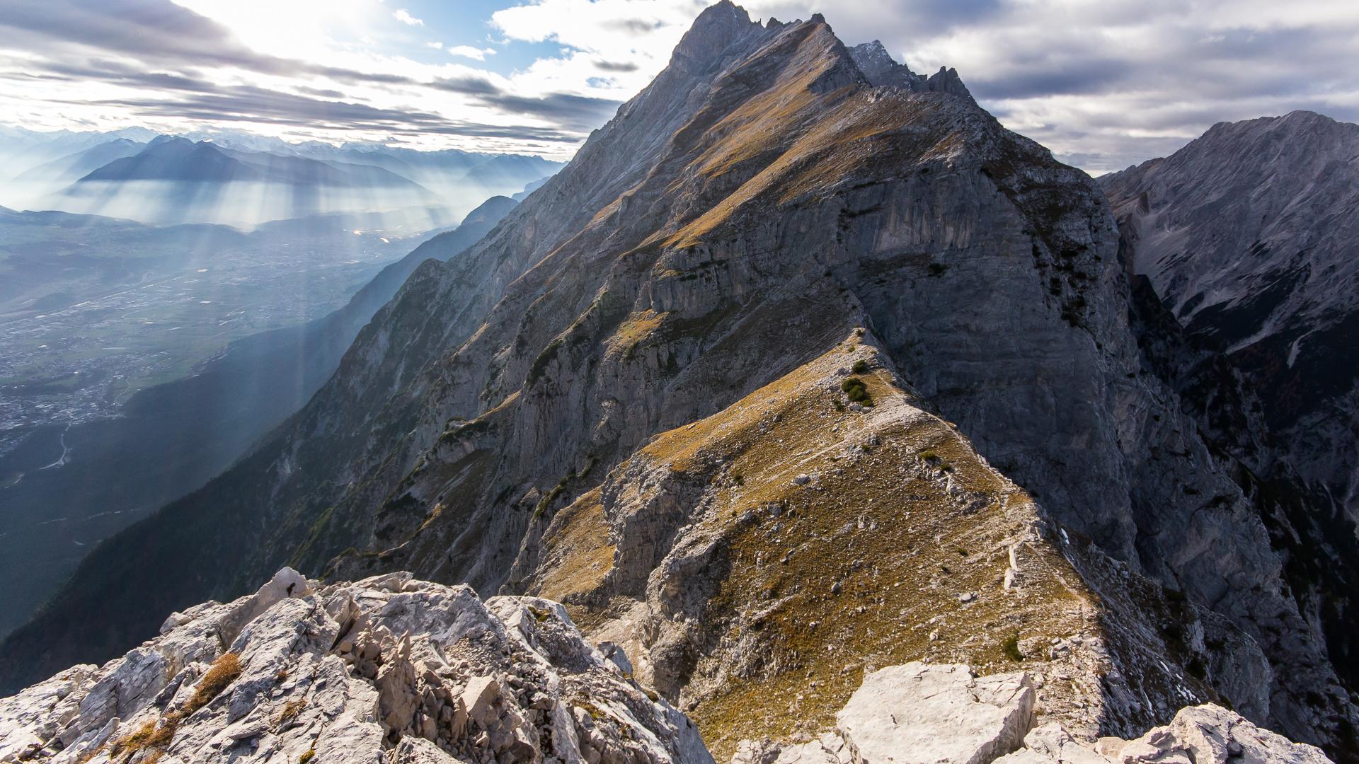 Blick vom Hundskopf-Gipfel in Richtung Westen